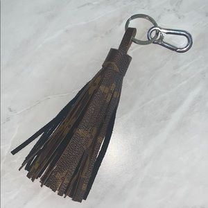 Upcycled Louis Vuitton Tassel Keychain